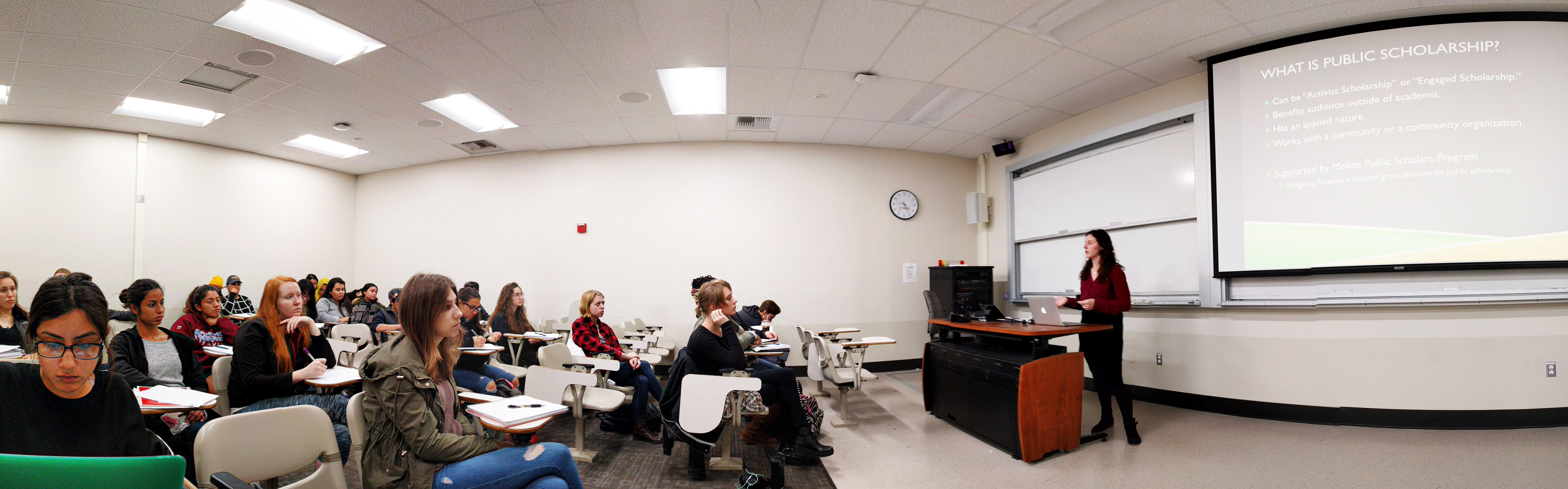 Alana Stein presents her Mellon Public Fellows Research, Jan 2018