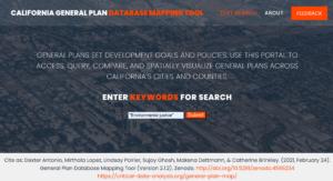 General Plan Database Portal